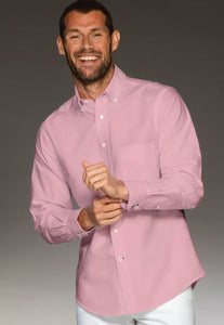 Men's shirt rose in 100% cotton