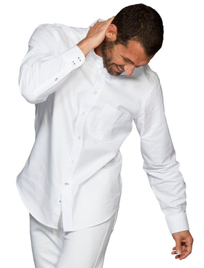 Men's white shirt 100% cotton