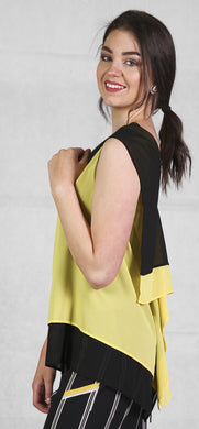 Peruzzi lime and black top