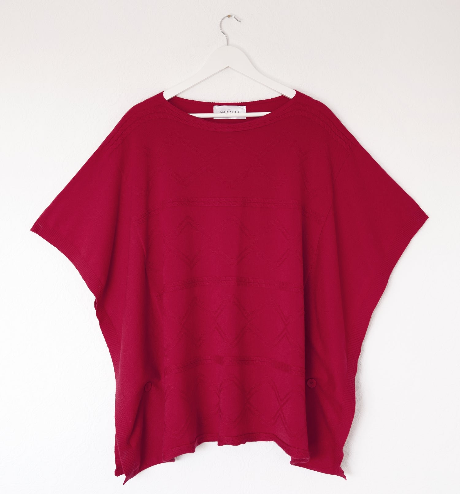 ladies red poncho