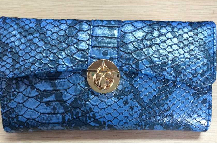 Very attractive and practical purse/wallet in authentic snake skin style fabric by Sally Allen