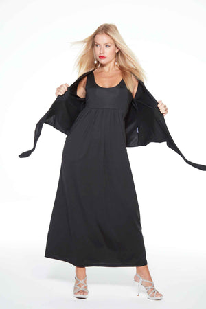 Audrey Black Long Anytime Anywear Dress by Sally Allen