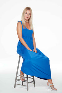 Cobalt Blue Anytime Dress Eva Long