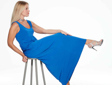 Eva Long Cobalt Blue Anytime Anywear Dress by Sally Allen