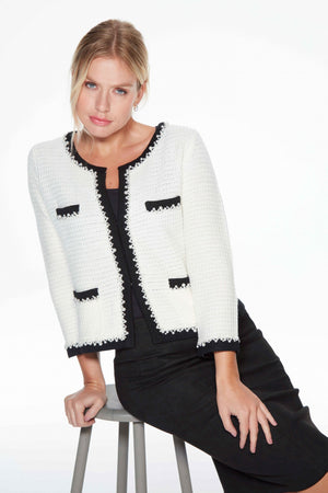 Angie White French-style Knitted Jacket