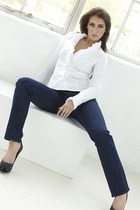 Sienna Midnight Sparkle Elita Wizard Party Jeans, full rise, straight cut, body shaping technology