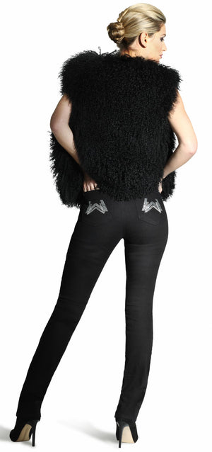 Sienna Midnight Elite Wizard Party Jeans with Austrian crystals, full rise, straight cut, body shaping technology