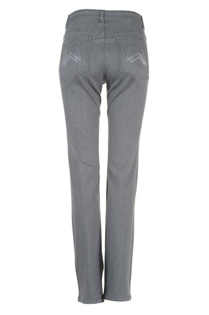 womens grey jeans back