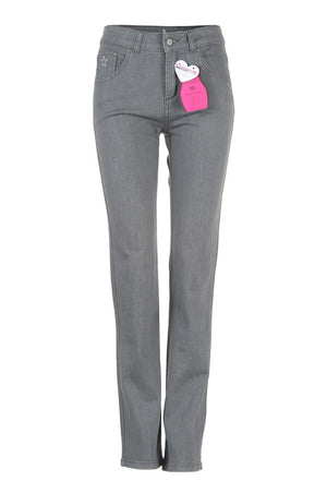 womens grey jeans front