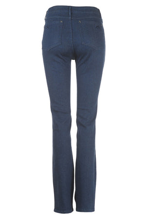 Full Rise Straight Cut Womens Jeans in Midnight Blue