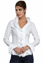 Load image into Gallery viewer, Isabella White Ruffle Shirt