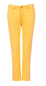 womens lemon yellow jeans back