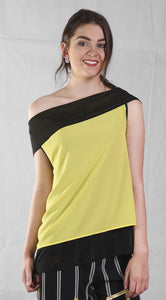 Peruzzi Waterfall Back Chiffon Top