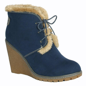 Pixie boot Emily in navy blue
