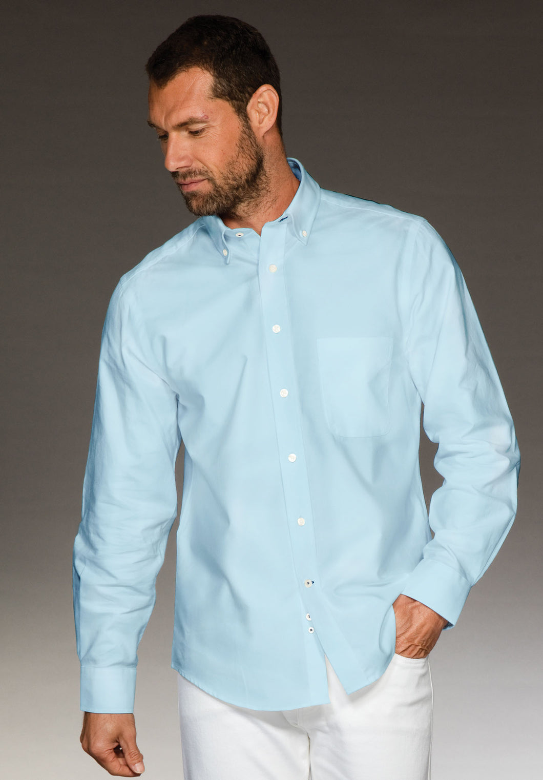 Men's shirt in Turquoise 100% cotton