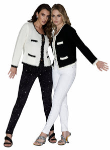 Size 4 White Diamante Party Jeans sprinkled all over with diamante stones