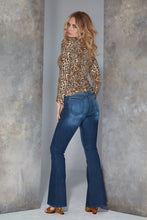 Load image into Gallery viewer, Bardot Flare by Elite Wizard Jeans. Hand finished sand blasting. High Fashion