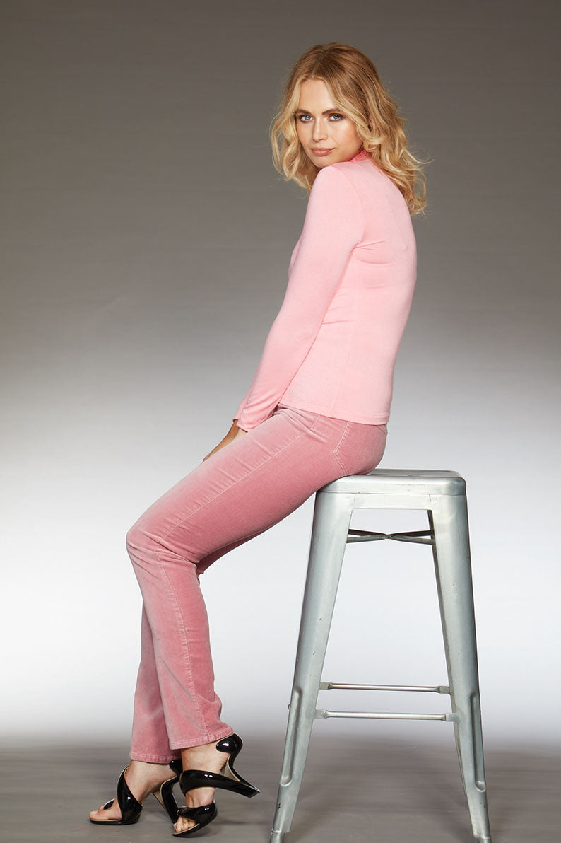 Kate Elite Wizard Jeans - pink velvet, cigarette cut