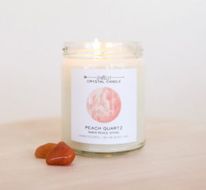 Crystal Candle- Peach Quartz