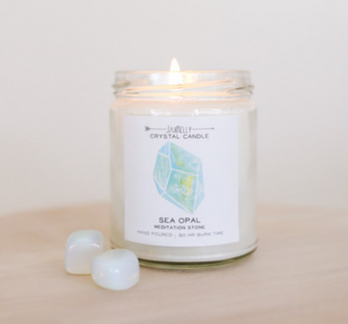 Crystal Candle- Sea Opal