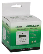Load image into Gallery viewer, Titan Controls® Apollo® 9 - Two Outlet Digital Timer