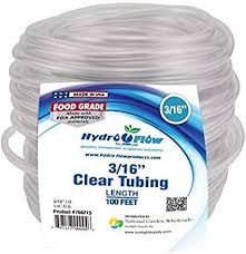 Hydro Flow Vinyl Tubing Clear 3/16 inches ID - 1/4 in OD - 3 ft or 6 ft