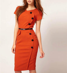 Orange fitted dress Size 10