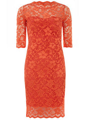 Orange Fitted Dress Size 12