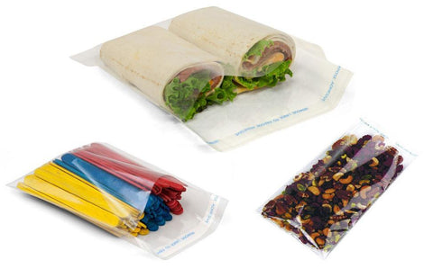 Self-Adhesive Lip N' Tape Flat Cellophane Bags