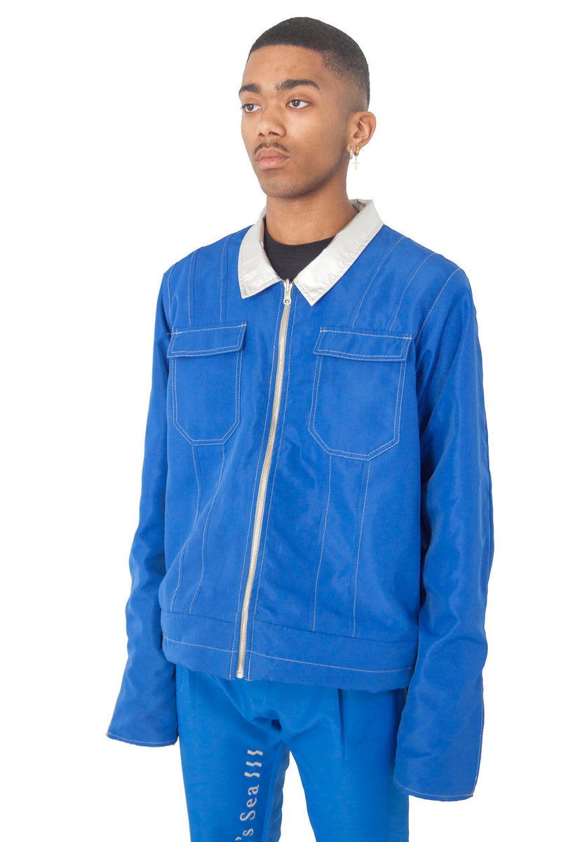 Pearl Blue Reversible Jacket (Pre order)