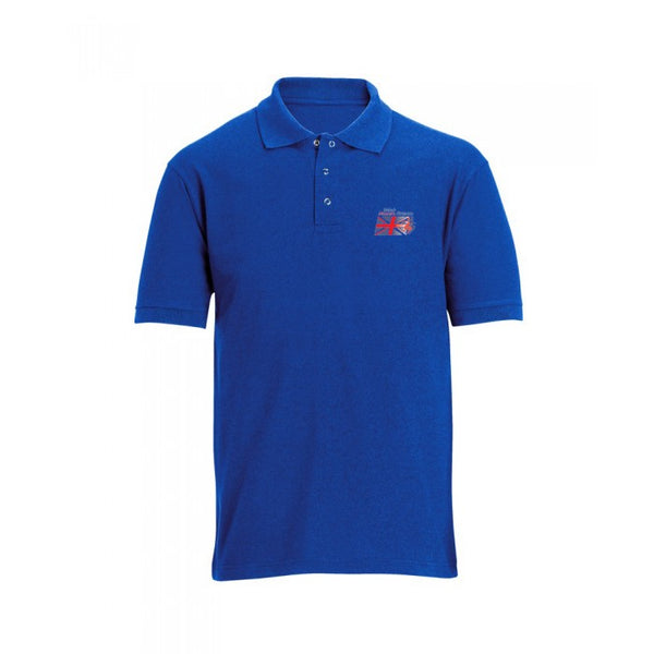 BMAF Mens Blue polo shirt