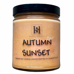 Autumn Sunset Soy Candle by Happy Scents