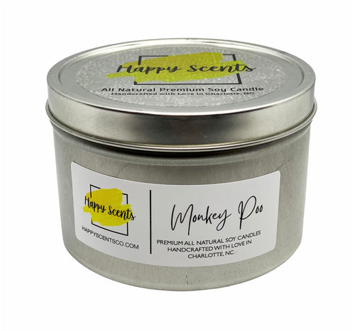monkey poo--tropical scented handmade soy candle