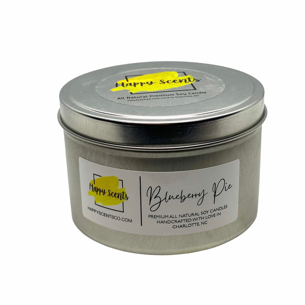 Blueberry Pie Travel Tin Handmade Soy Candle
