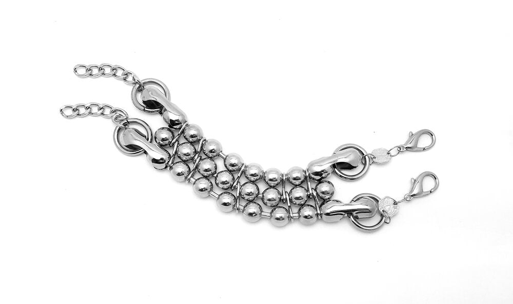 Oversized Ball Chain Double Bracelet