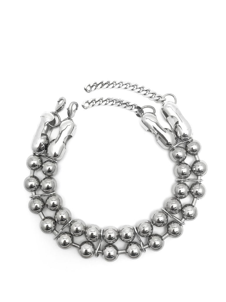Oversized Ball Chain Double Choker