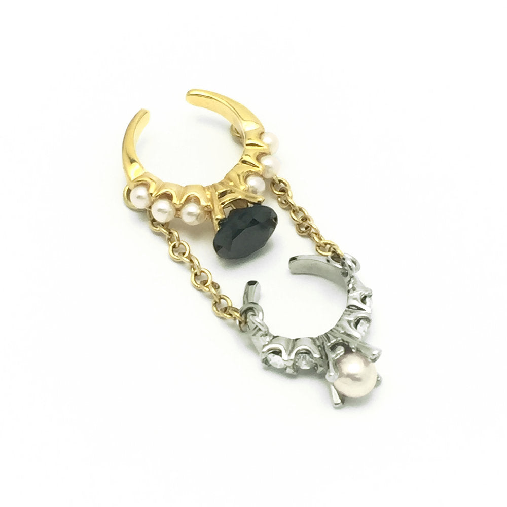 2-In-1 Chained Ring