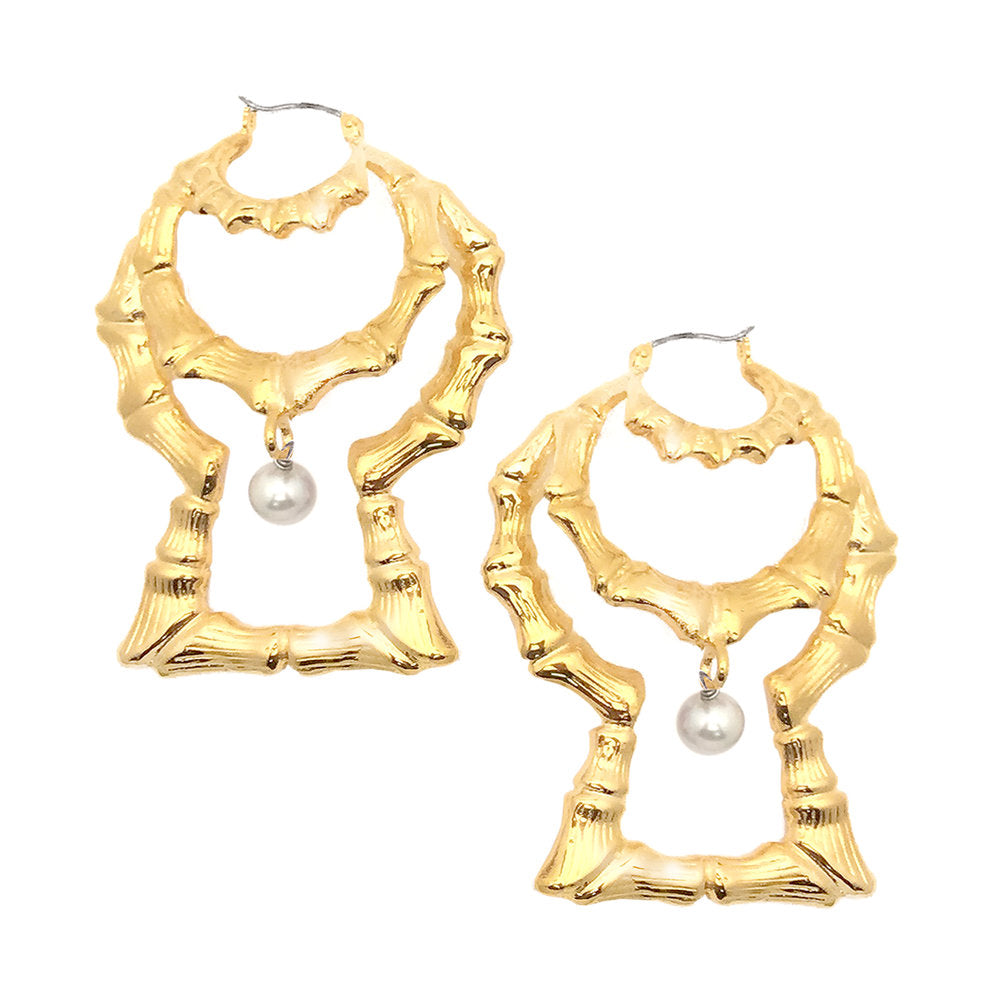 The Goodgirl/Badgal Statement Bamboo Earrings (Pair)