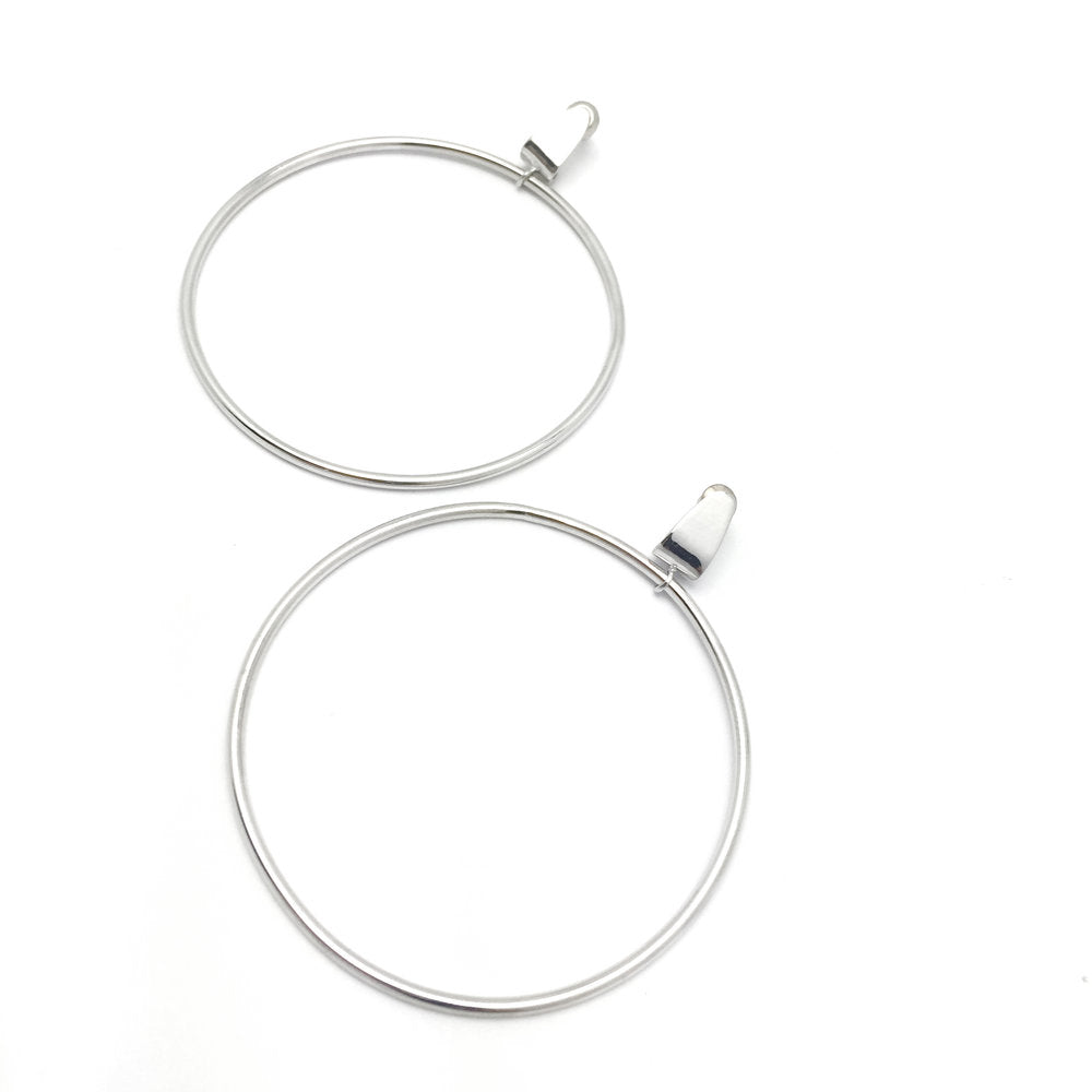 The Hoisted Hoop Earrings (pair)