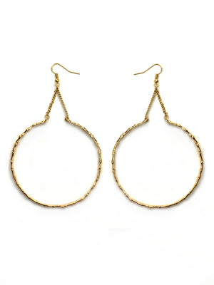 The Oversized Bamboo Hoop Earrings (Pair)