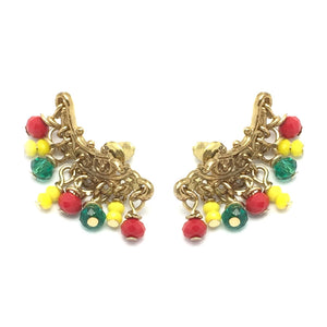 The Dropka Beaded Ear Crawlers (Pair)