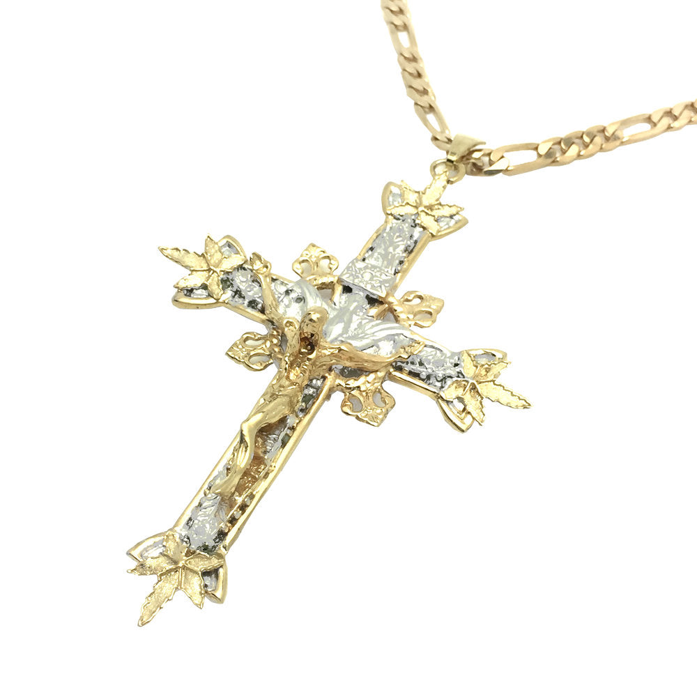 Cannabis Crucifix Necklace
