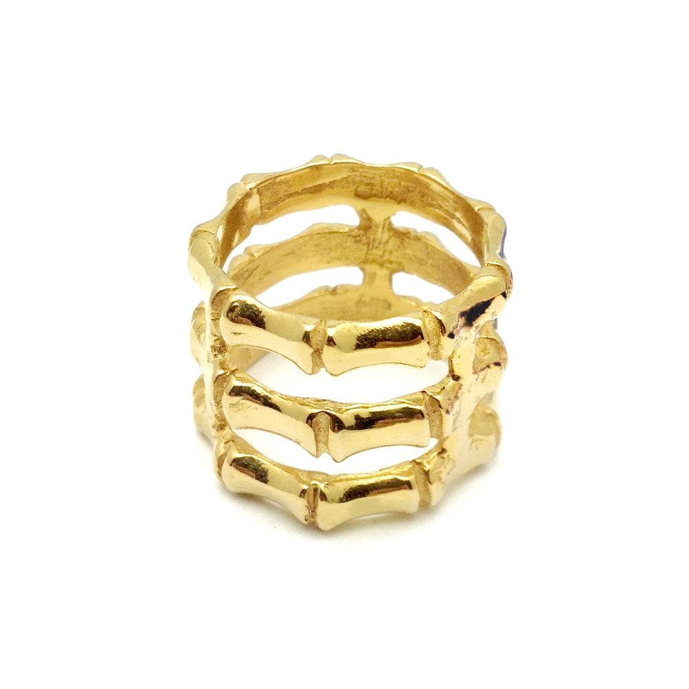 Triple Stacked Bamboo Ring