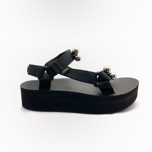 CHRISHABANA x TEVA Customized Flatform Universal Sandals in Black