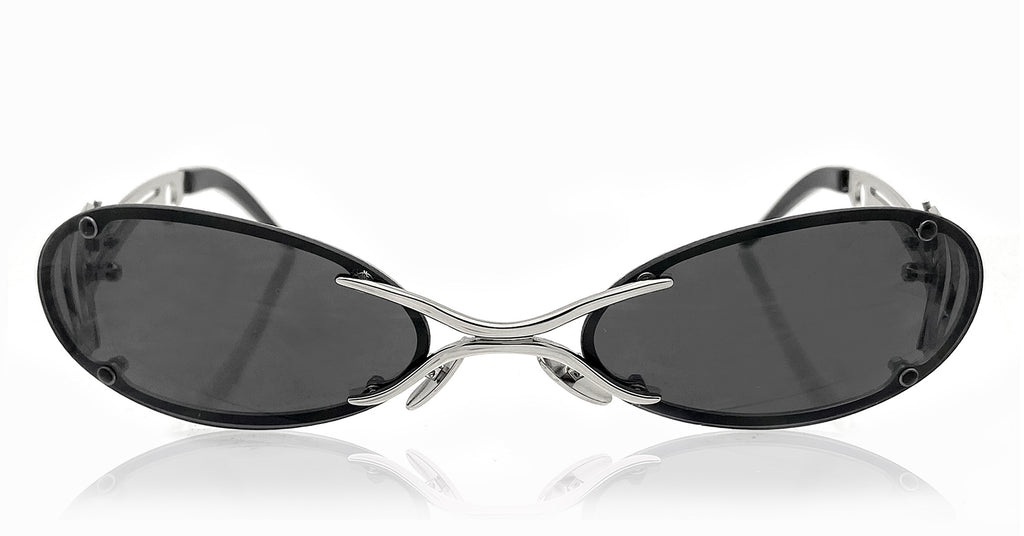 The Sliver Sunglases (Black/Silver)