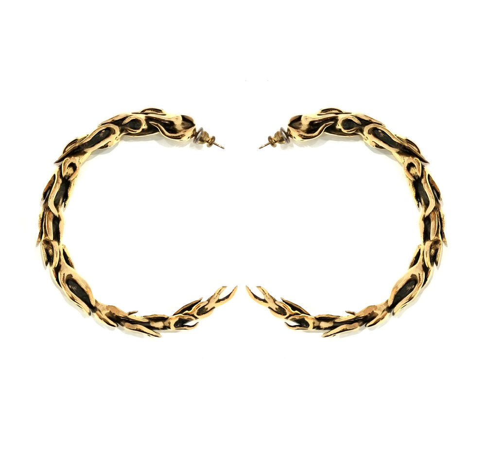 The Flame Hoop Earrings