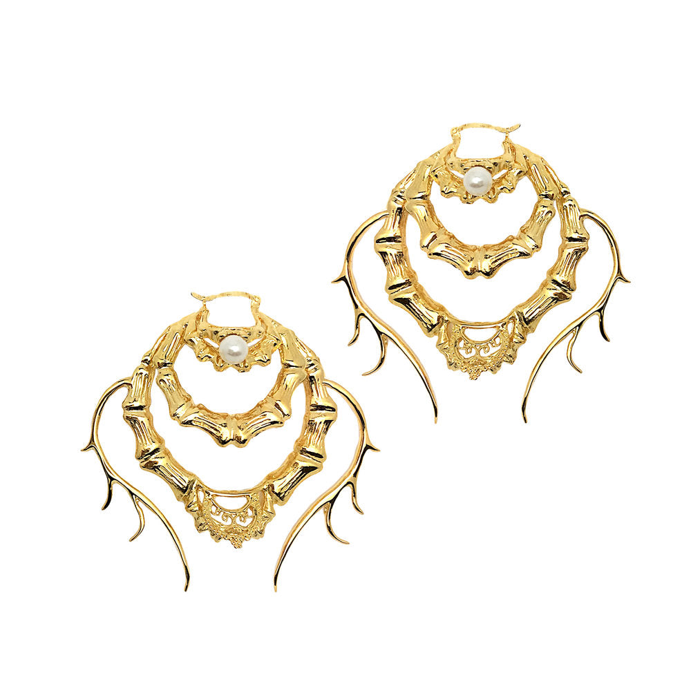 The Savage Statement Bamboo Earrings (Pair)