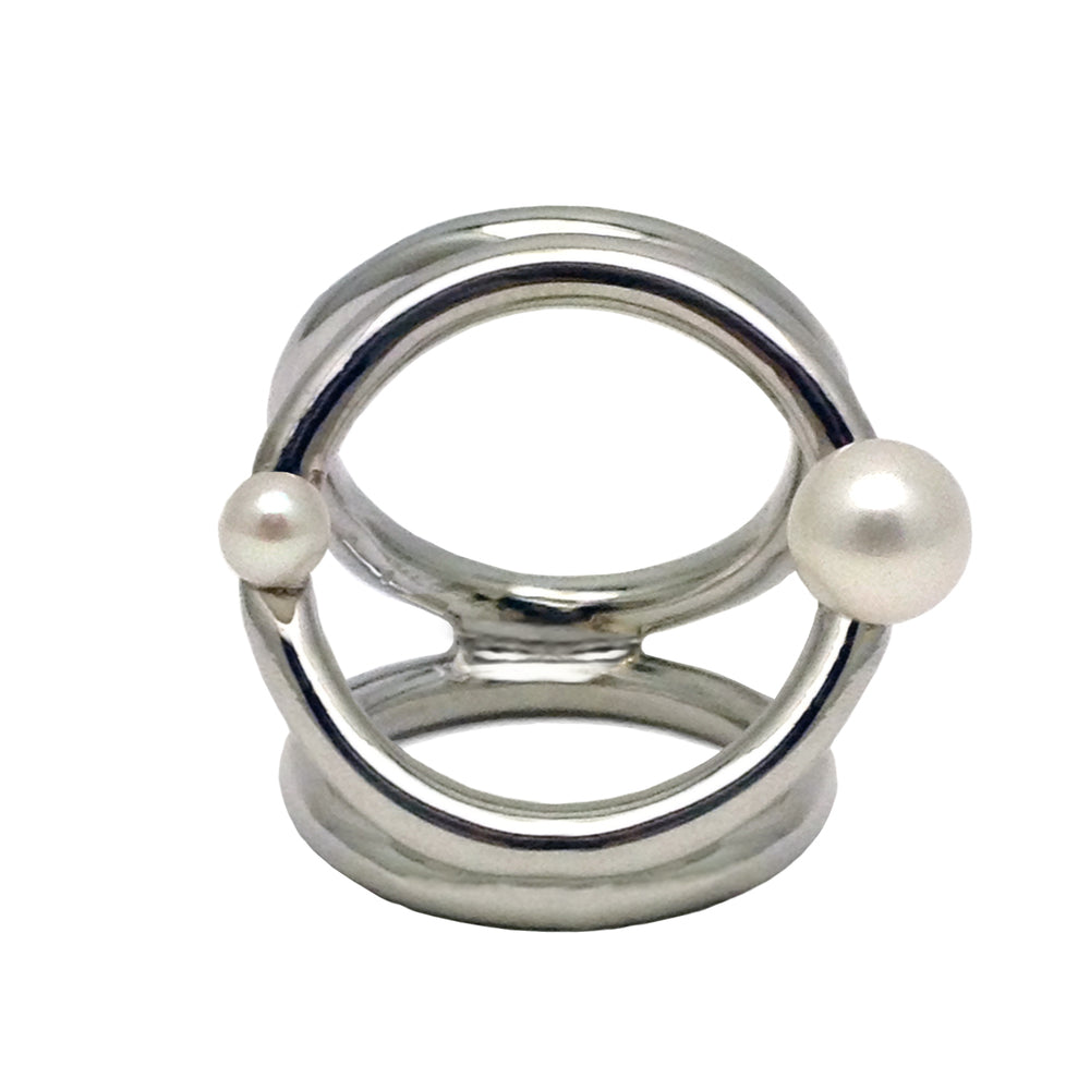The Triple Orbit Pearl Ring
