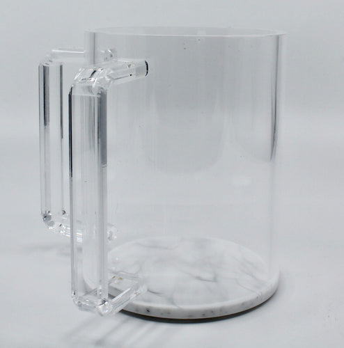 Acrylic Wash Cup with Marble Base