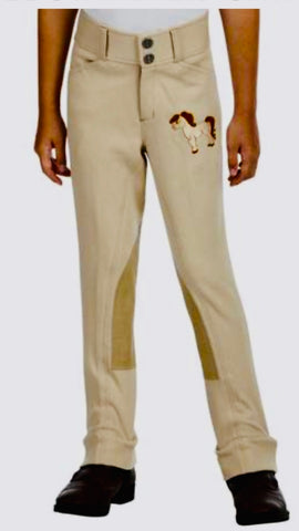 Children's Riding Pant with Brown Pony Embroidery